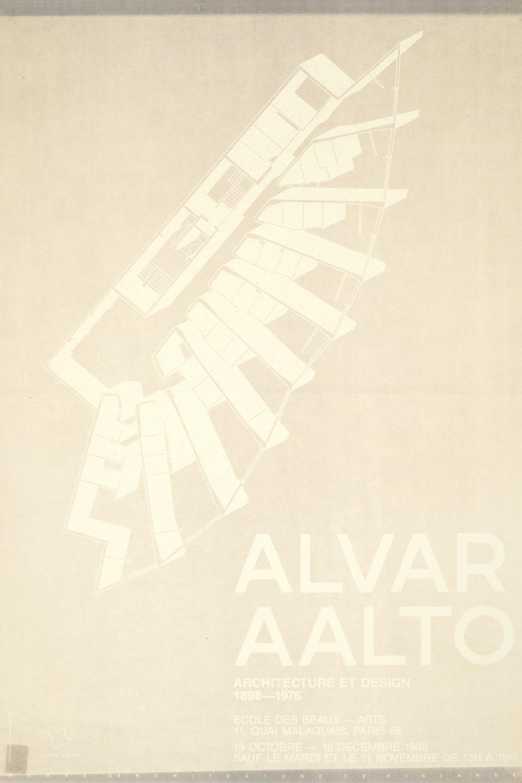 Poster Ecole des Beaux Arts white copyright Alvar Aalto Foundation