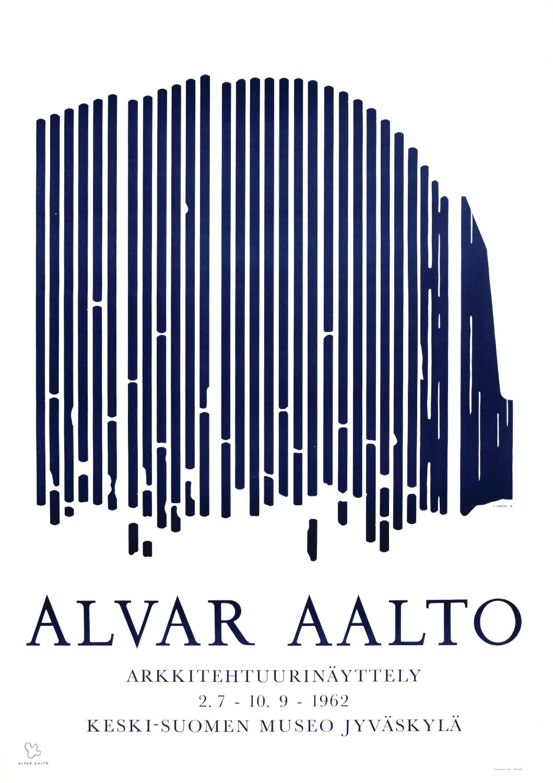 Poster Museum of Central Finland copyright Alvar Aalto Foundation