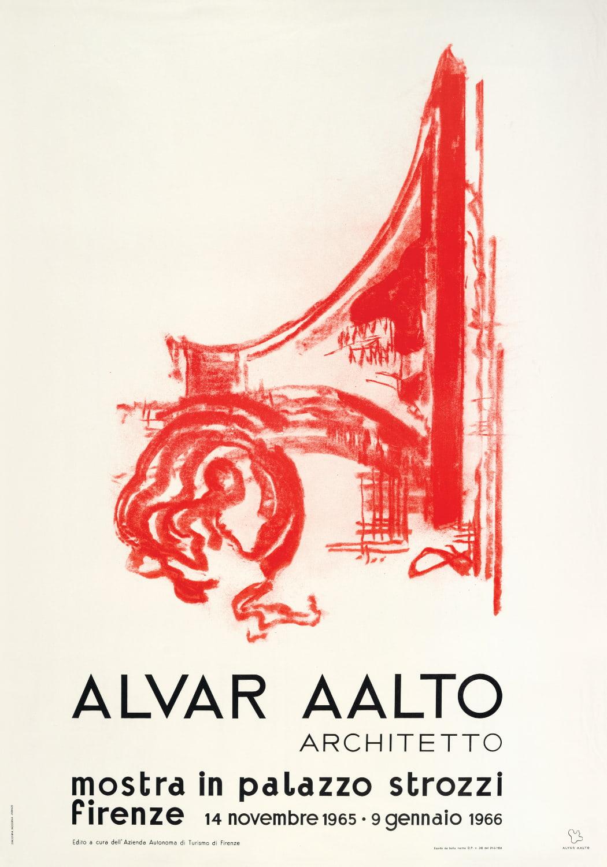 Poster Palazzo Strozzi copyright Alvar Aalto Foundation