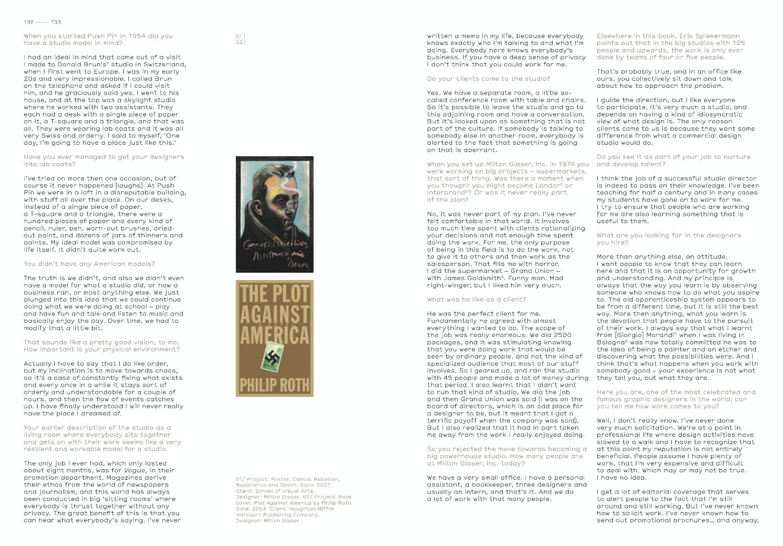 Studio Culture Milton Glaser 2