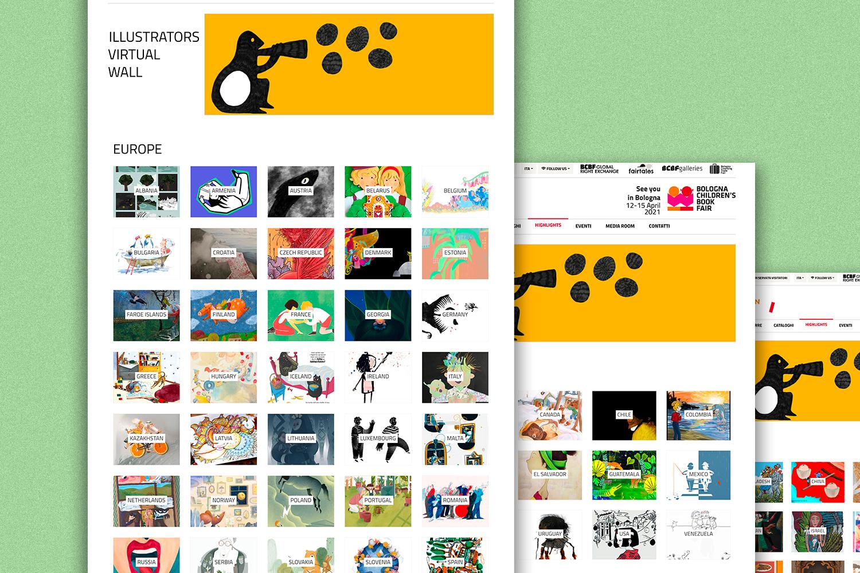 bcbf illustrators virtual wall