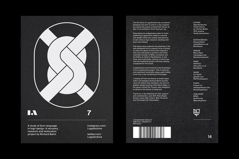 1 LogoArchive Issue 7 Textiles Mid Century Logo Zine BPO Richard Baird