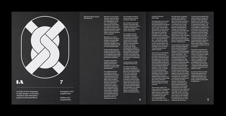 3 LogoArchive Issue 7 Textiles Mid Century Logo Zine BPO Richard Baird