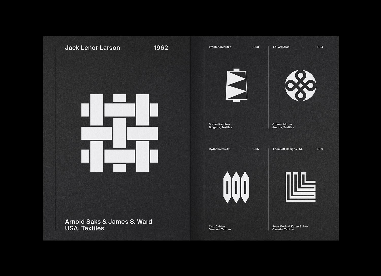 6 LogoArchive Issue 7 Textiles Mid Century Logo Zine BPO Richard Baird