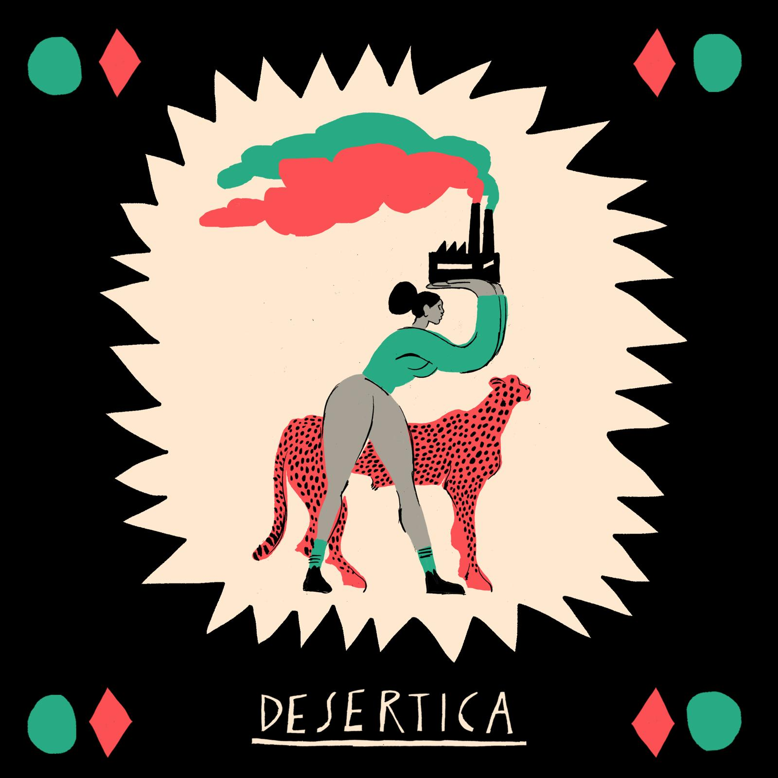 DESERTICA COVER ARTWORK DI FEDERICO MANZONE