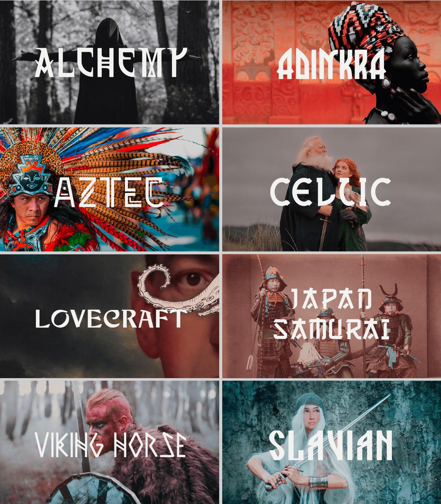 fontikon All fonts presentationAll fonts thumbnails