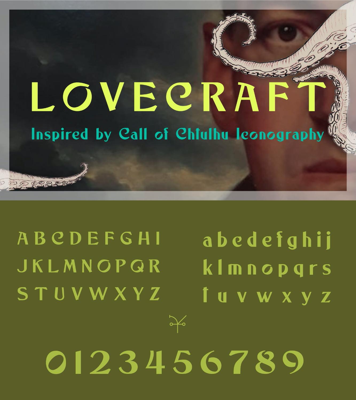 fontikon Lovecraftian total font