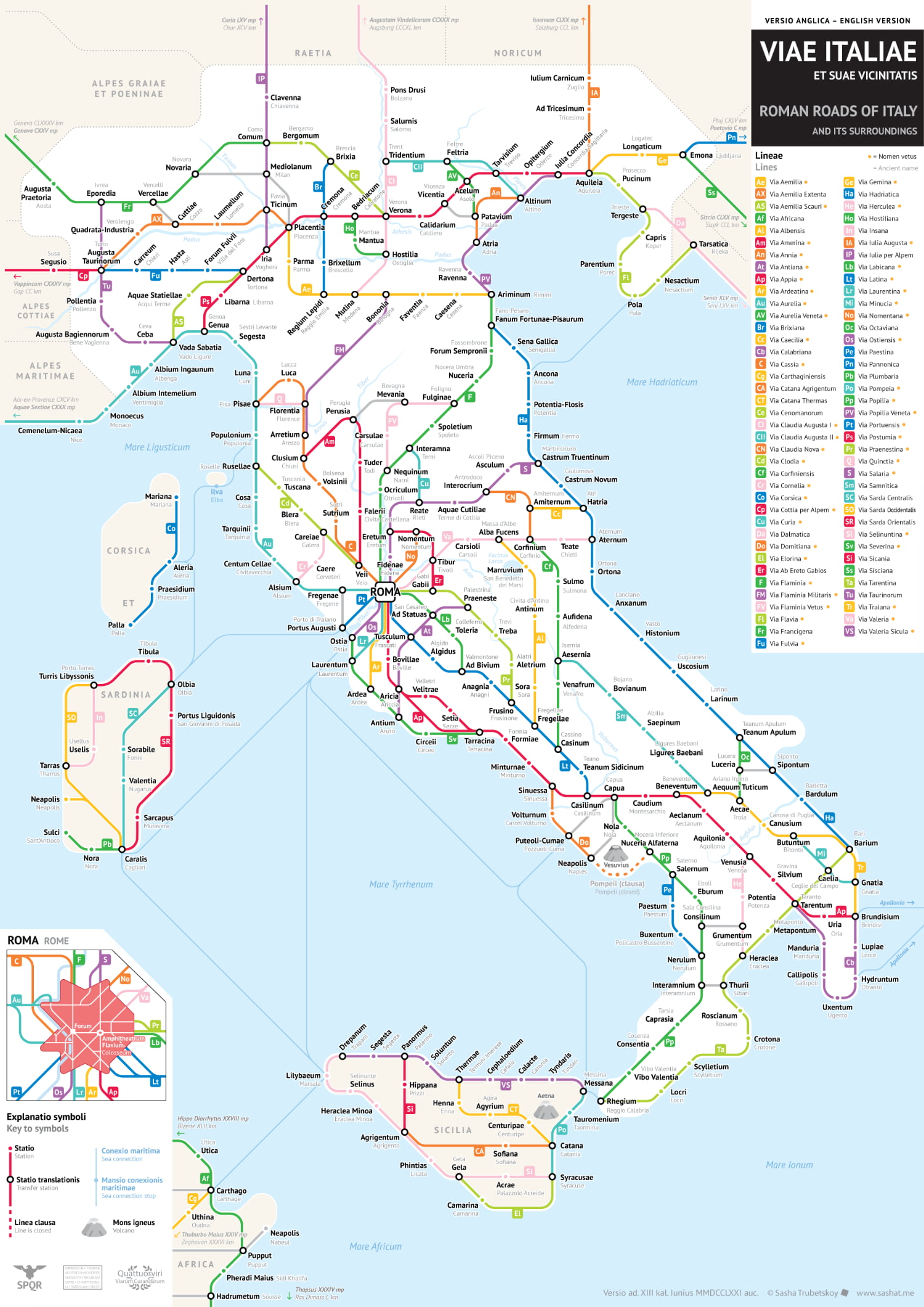 roman roads italia