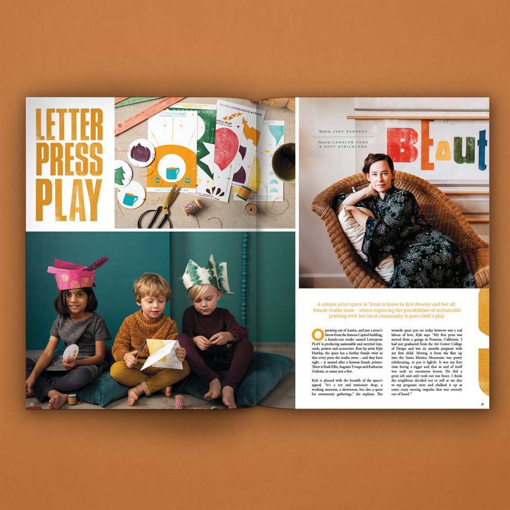 PM12 Spread LetterpressPLAY