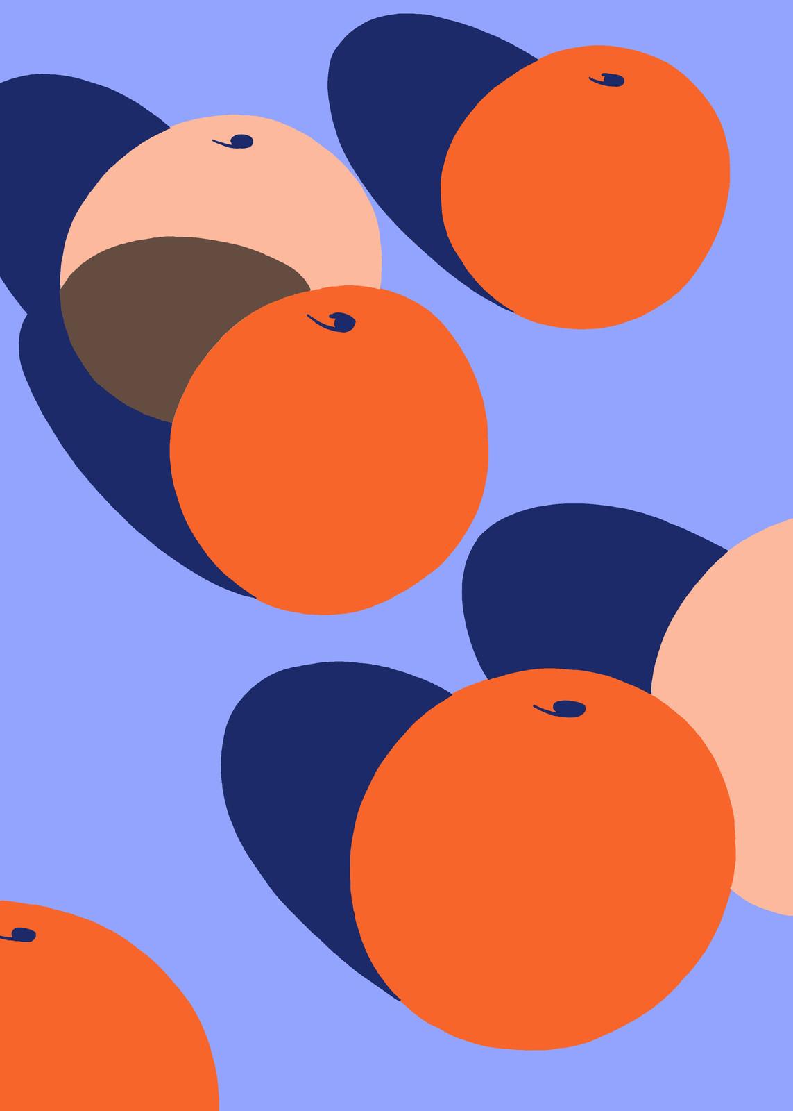 fallani venezia Ana Popescu Spazi Oranges  2020 silkscreen print on Fedrigoni 300gr paper 70x50 cm