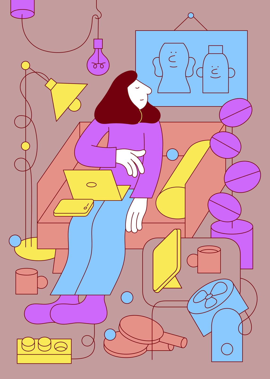 fallani venezia Martina Paukova Spazi Armchair and me 2020 serigrafia su carta Fedrigroni 300 gr 70x50 cm