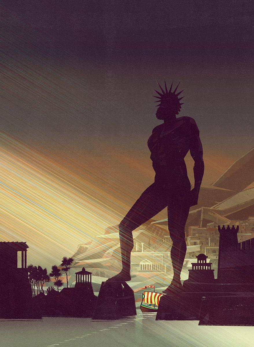 bongiorni polidoro atlante luoghi misteriosi antichita RGB Il colosso di Rodi