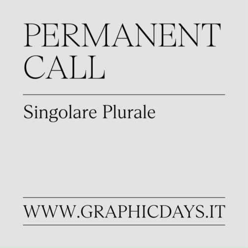 graphic days singolare plurale 2