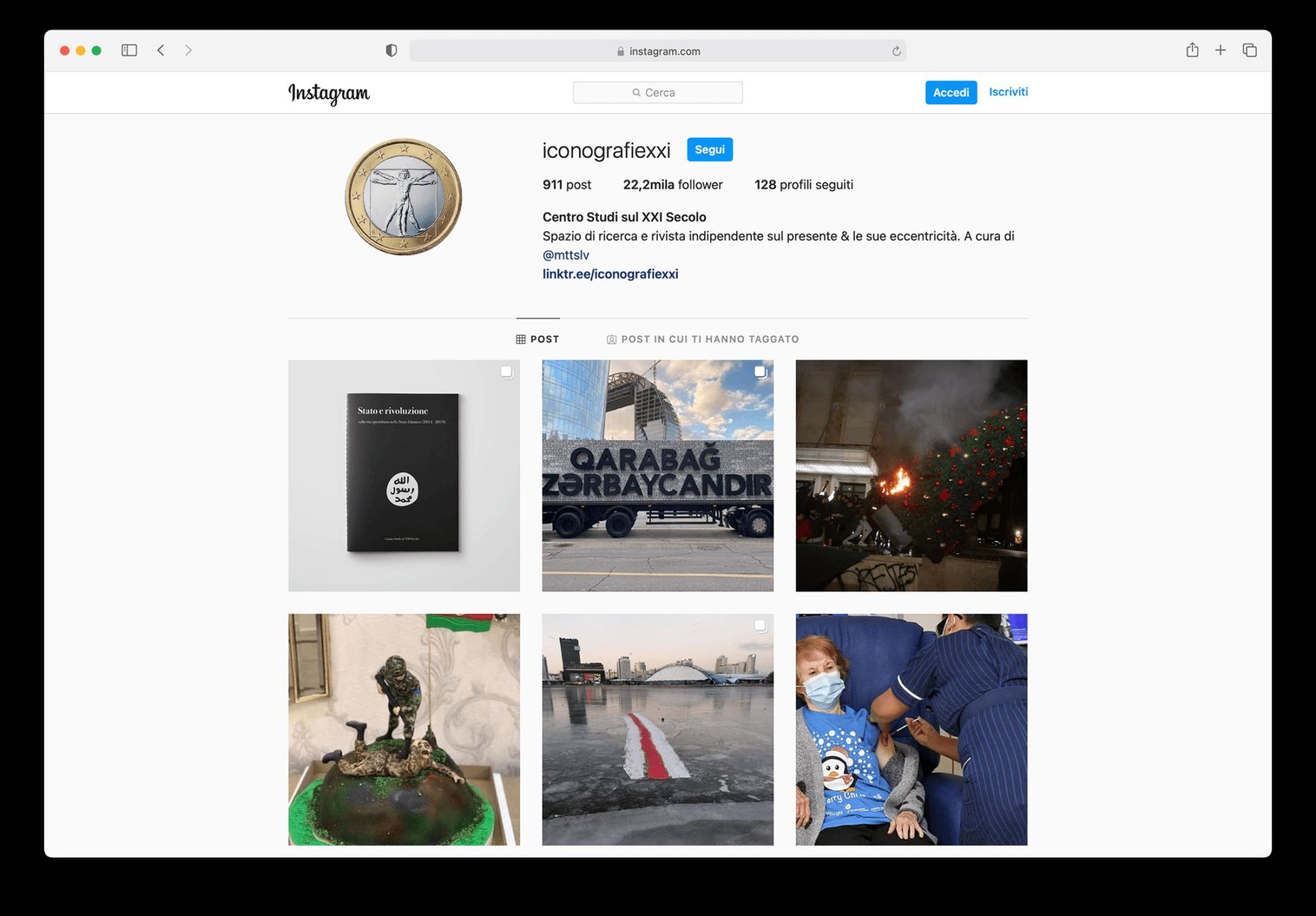 iconografie XXI instagram