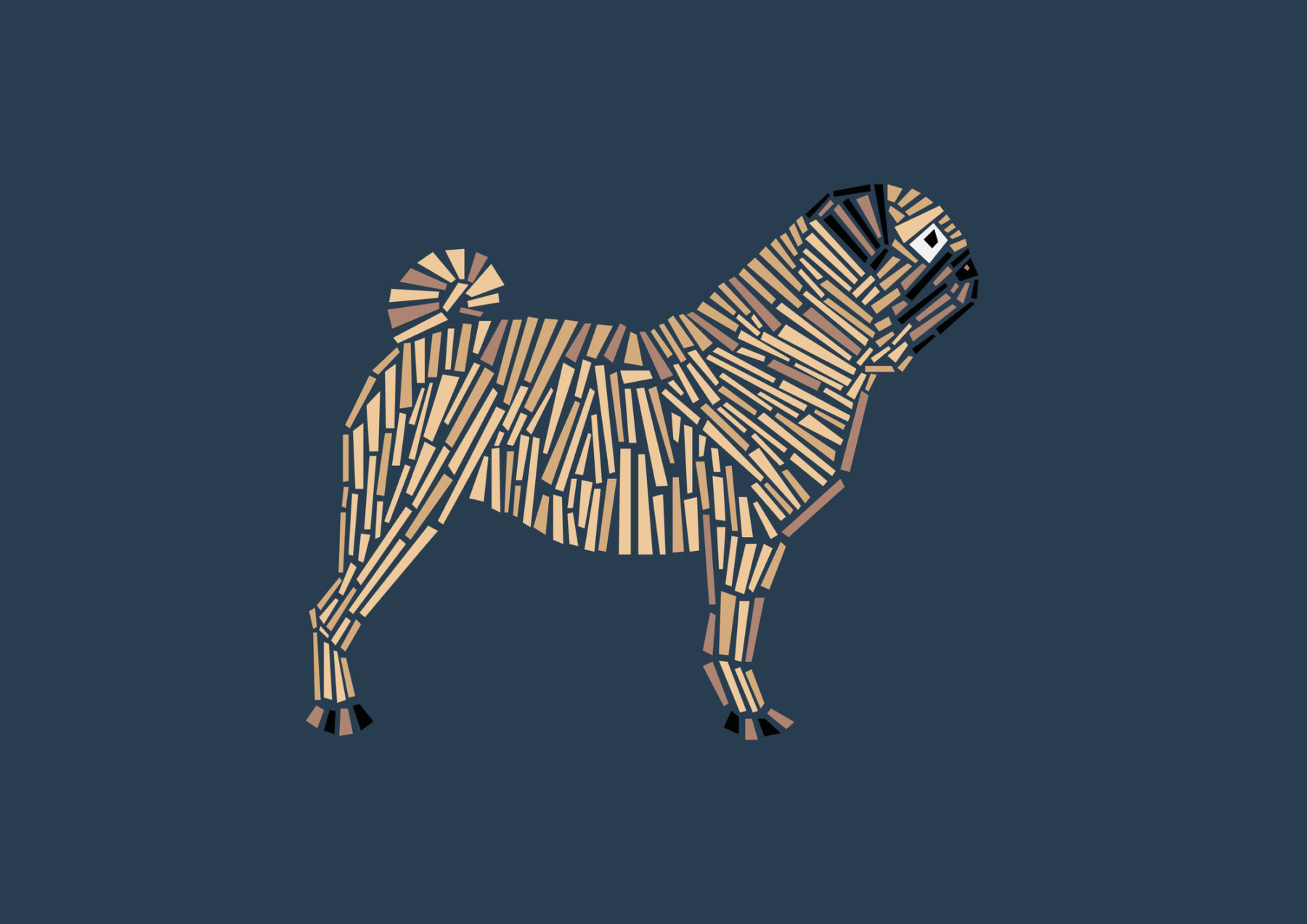 naomi turco Fifty dogs with graphic lines 20