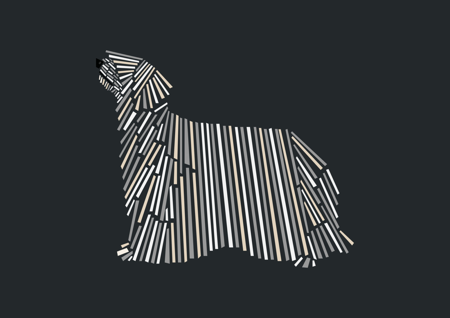 naomi turco Fifty dogs with graphic lines 23