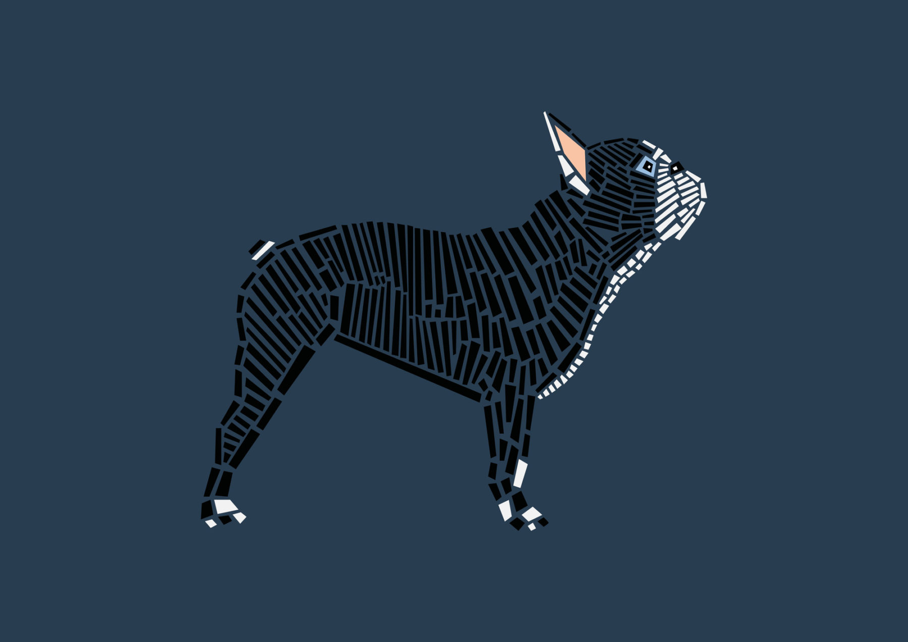 naomi turco Fifty dogs with graphic lines 24