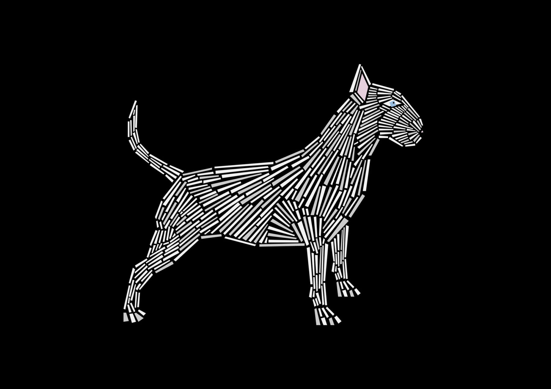 naomi turco Fifty dogs with graphic lines 25