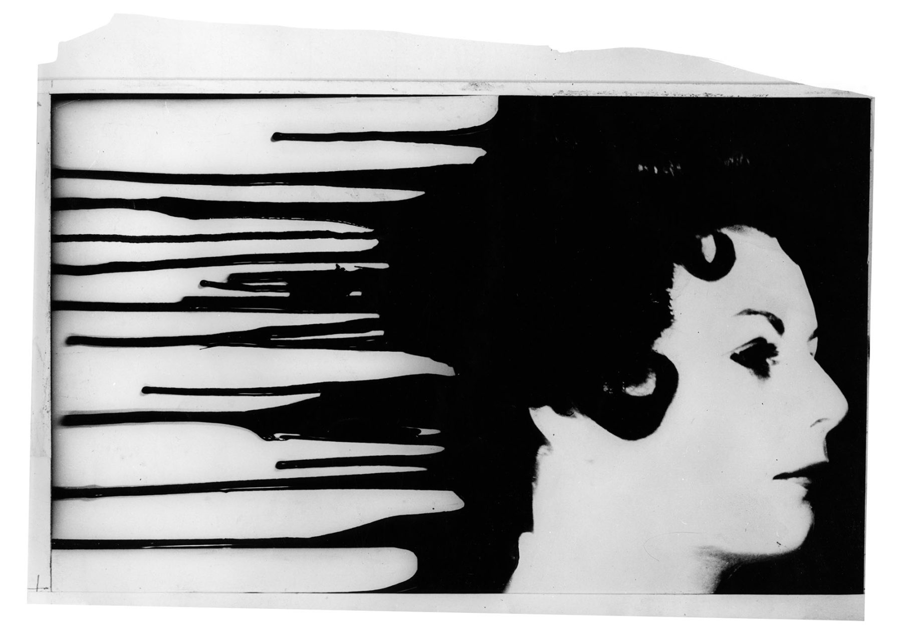 Hillmann 1961 Das verbrecherische Leben des Archibaldo de la Cruz Entwurf fuer Kleine Filmkunstreihe Fotomontage 30x21 cm