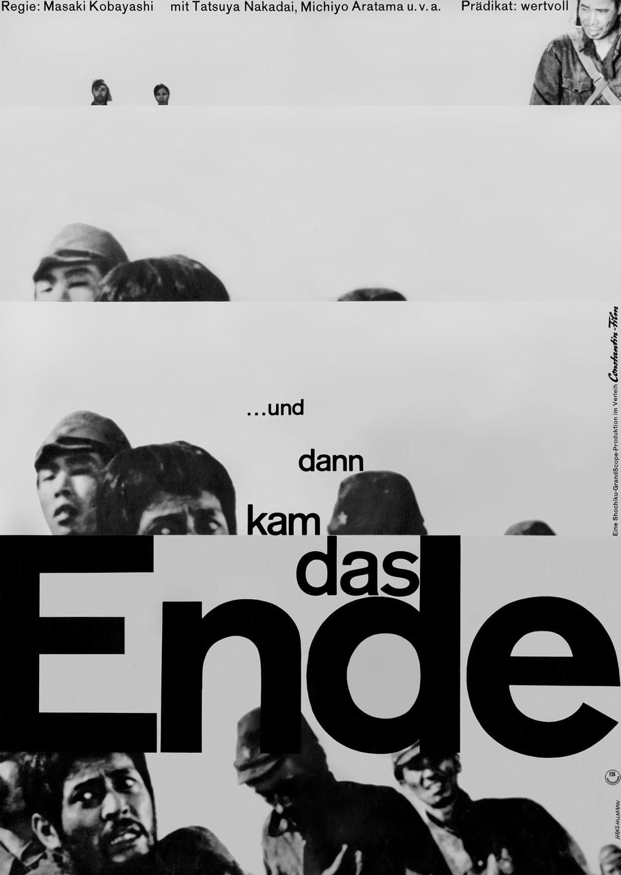 Hillmann 1962 Und dann kam das Ende Constantin Film Plakat A1