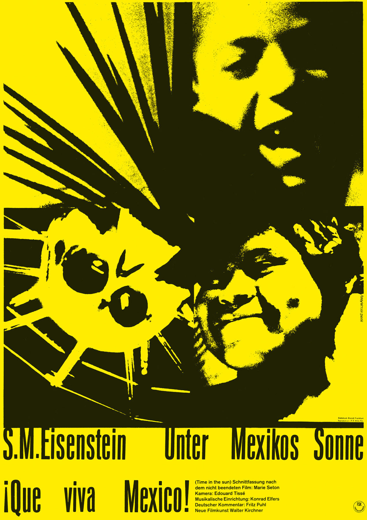 Hillmann 1963 Unter Mexikos Sonne Neue Filmkunst Walter Kirchner Plakat A1