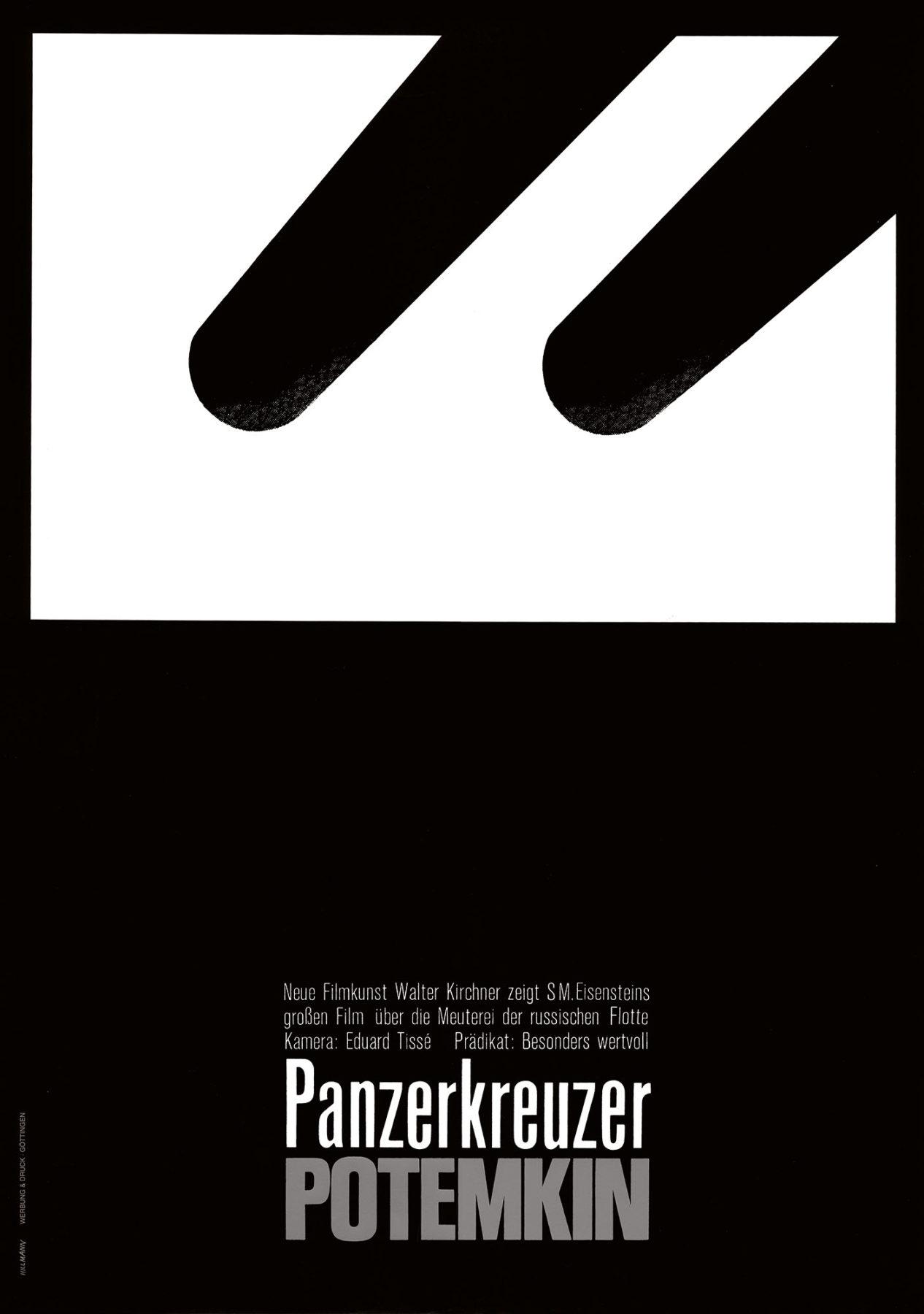 Hillmann 1966 Panzerkreuzer Potemkin Neue Filmkunst Walter Kirchner Plakat A1