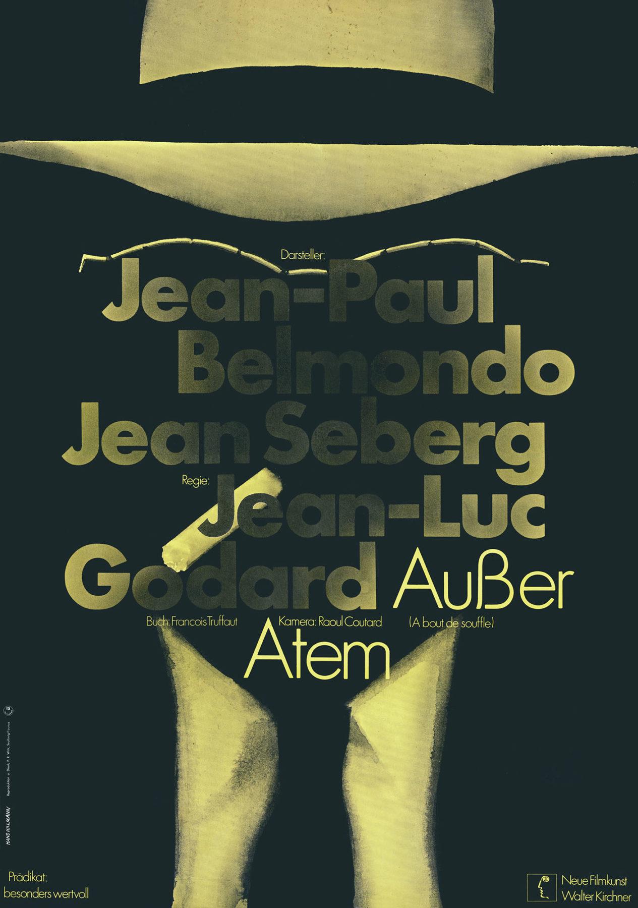 Hillmann 1968 Ausser Atem Neue Filmkunst Walter Kirchner Plakat A1