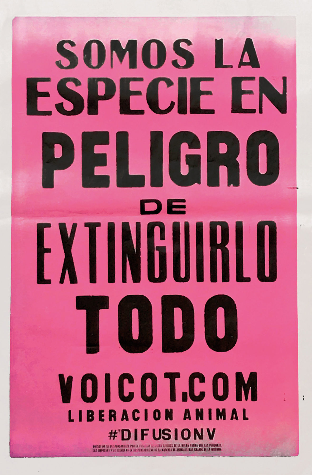 reverting to type Especie en Peligro Voicot